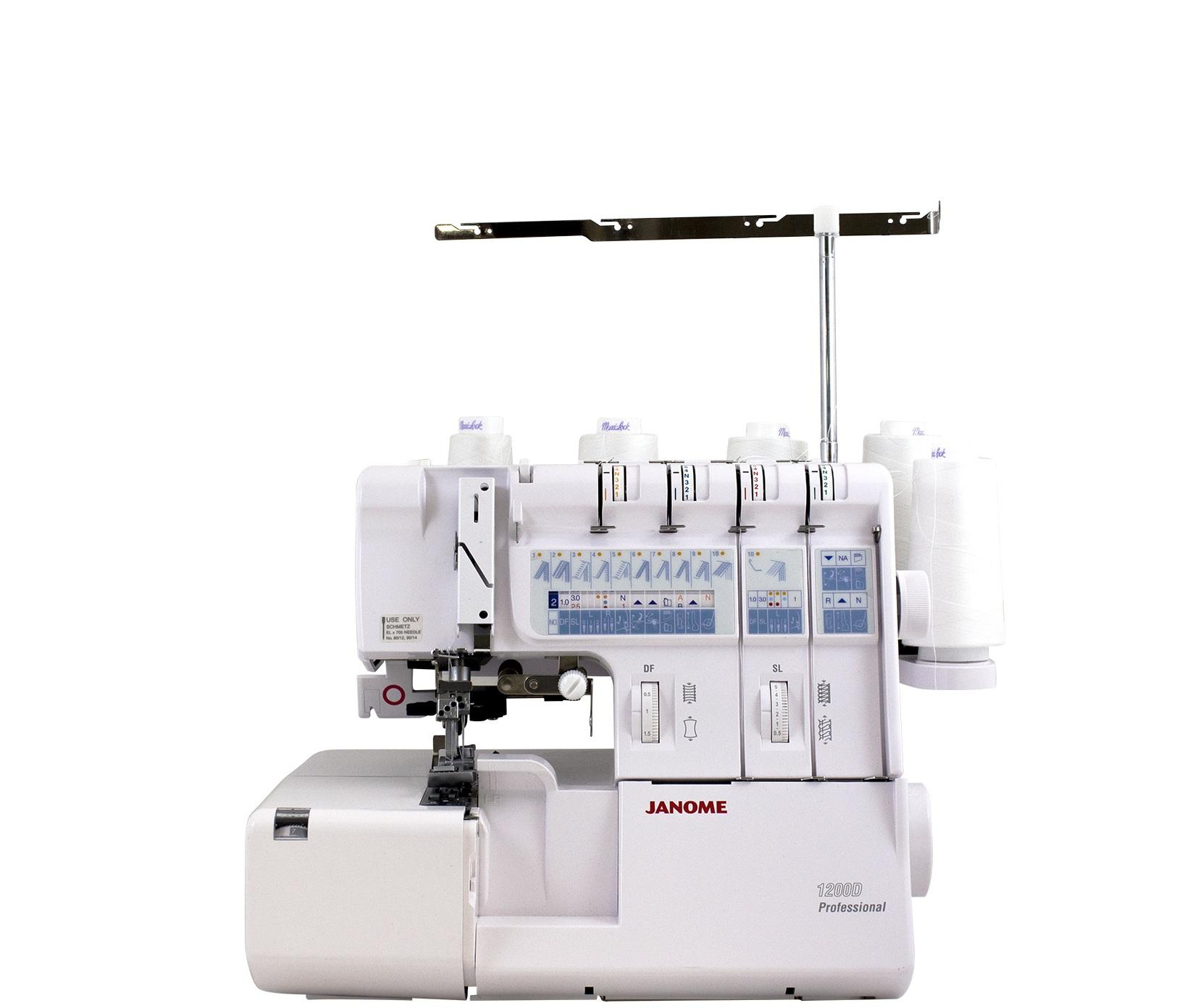 Krašto apmėtymo ir grandininio dygsnio siuvimo mašina Janome 1200D