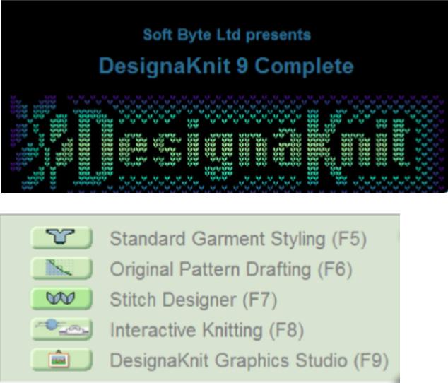 Programa mezgimui DesignaKnit9_0
