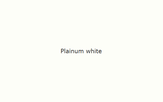 Platinum white