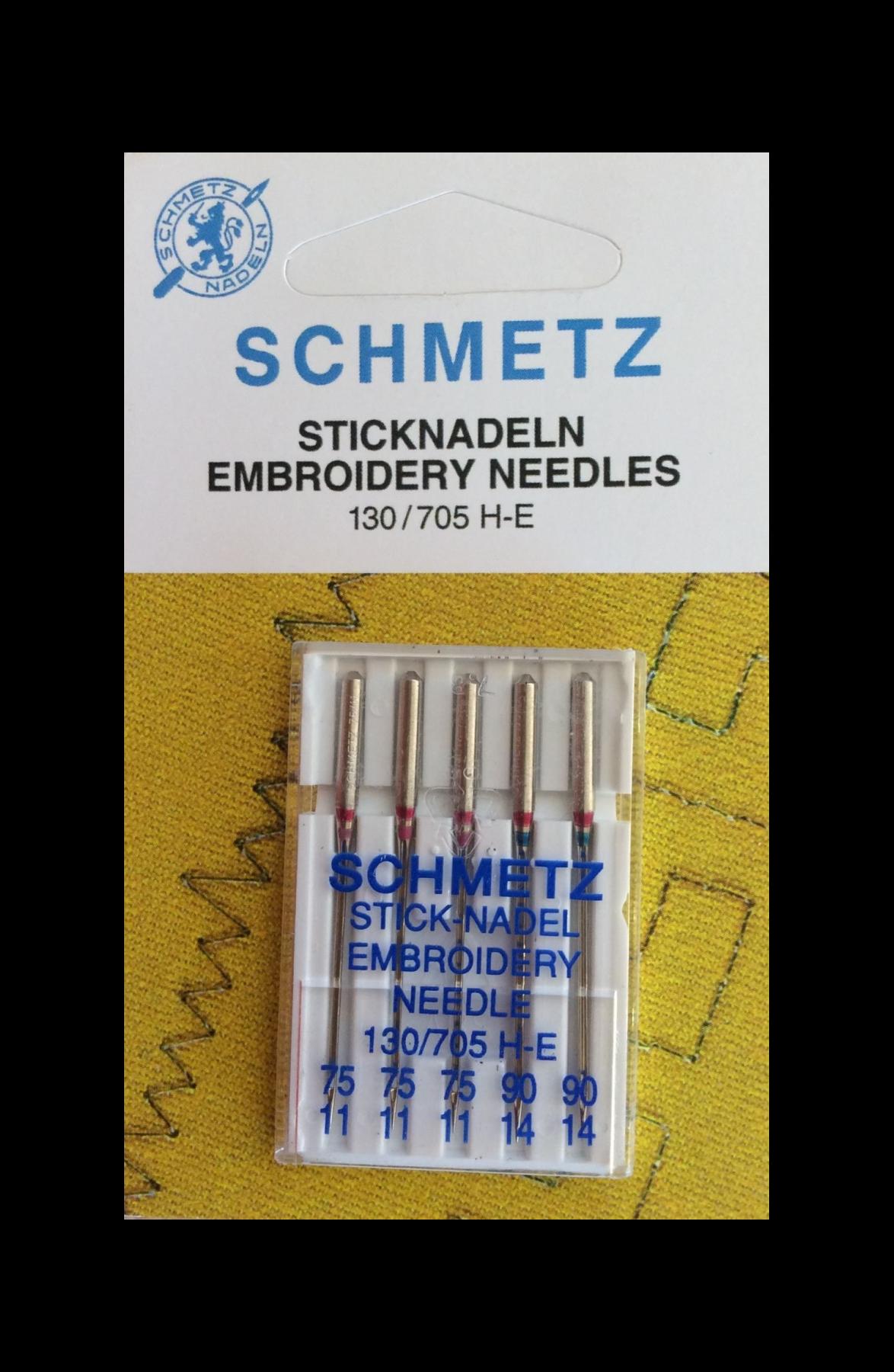 Adatos siuvinėjimui Schmetz (5 vnt. NM75/90)