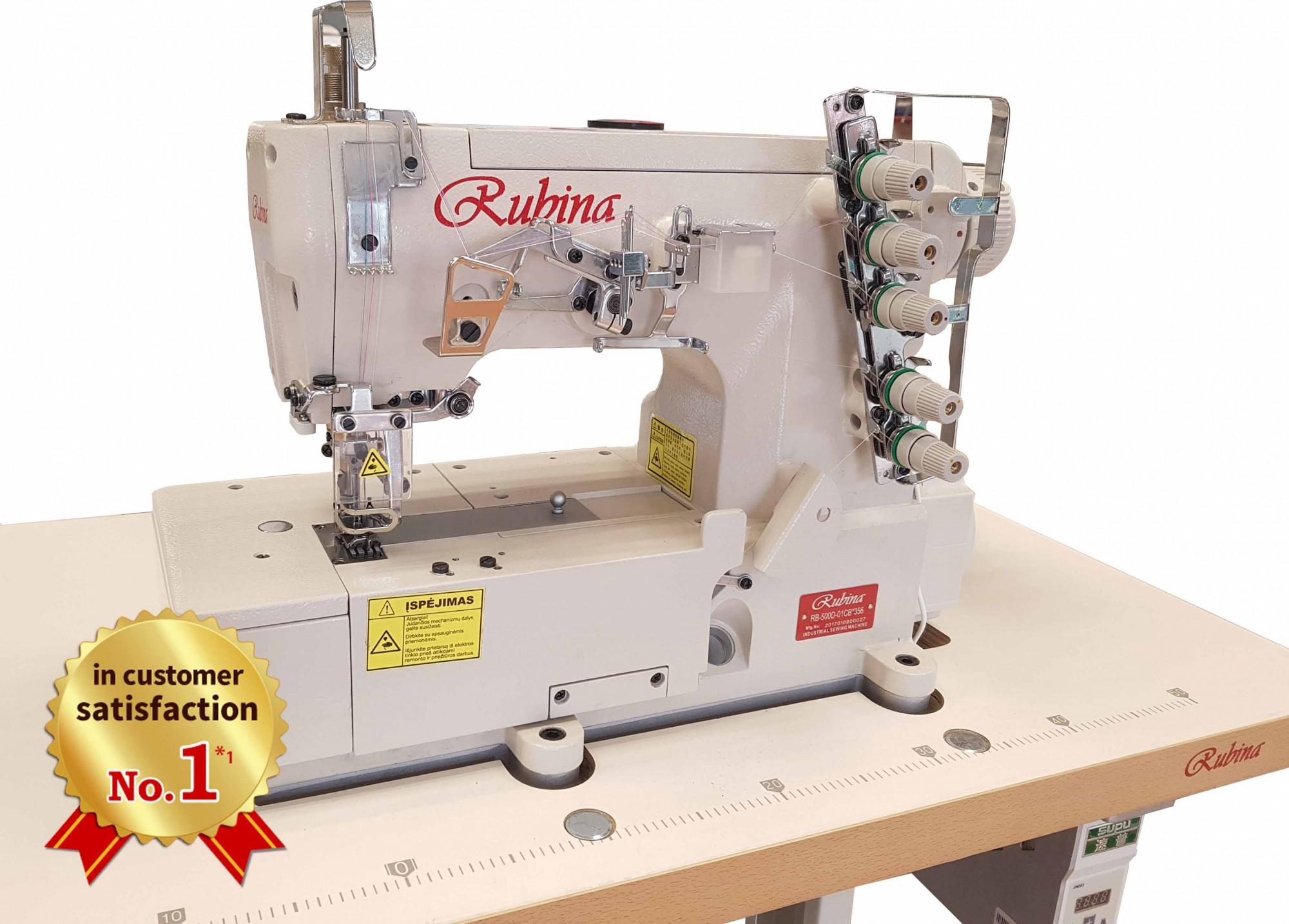 Rubina RB-500-01DCB 356 plokščiasiūlė mašina su plokščia platforma