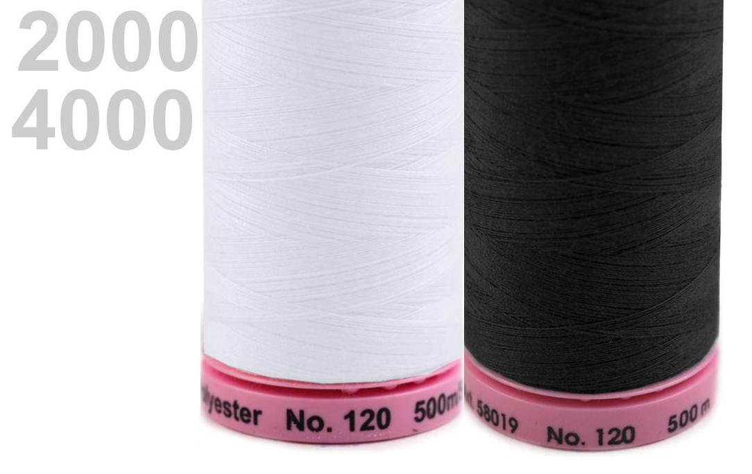 Siuvimo siūlai Amann ASPO (baltas+juodas)
