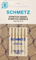 Trikotažinės adatos buitinei siuvimo mašinai SCHMETZ (5 vnt. Nm.75)