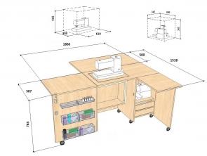 Transformuojamas stalas Comfort 5+ (5L+/5XL+) (su papildoma plokštuma sukirpimui)