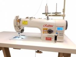 RUBINA RB-9400A-D4  tiesiasiūlė pramoninė mašina su automatika (komplektuojama su stalu Made in Germany).