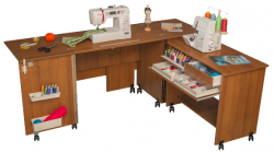 Tables for sewing and knitting machines