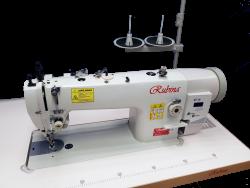 RUBINA RB-0617D pramoninė tiesiasiūlė mašina sunkiems audiniams su trigubu (unisoniniu) transp.