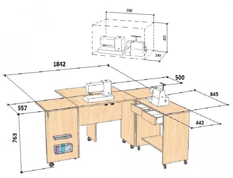 Comfort 7+ stalas_ismatavimai