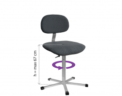 ERGOLINIA 10002 Kėdė siuvėjoms (minkšta)