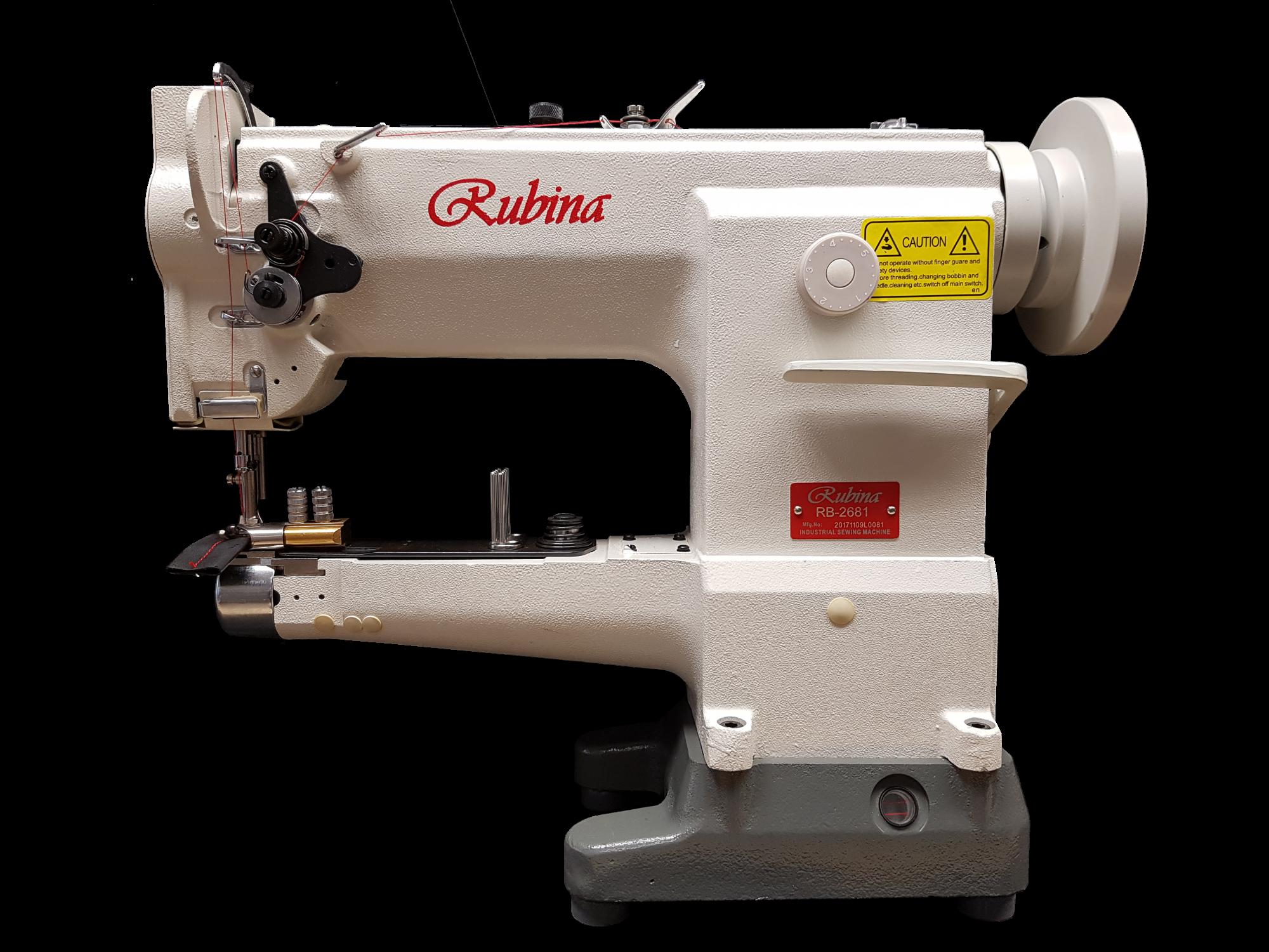 Rubina RB-2681 alkūninė trigubo unisoninio transportavimo pramoninė mašina