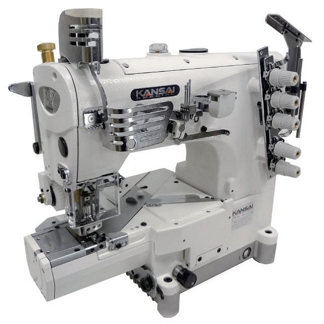 Kansai Special NR9803 (RX9803) serijos cilindrinės platformos pramoninė plokščiasiūlė siuvimo mašina su viršutiniu ir apatiniu padengimu