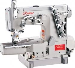 RB-600-01DCB cilindrinės platformos pramoninė plokščiasiūlė siuvimo mašina su viršutiniu ir apatiniu padengimu