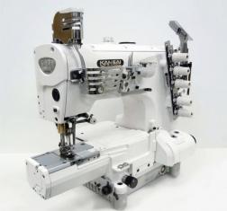 Kansai Special NRE9803 serijos cilindrinės platformos pramoninė plokščiasiūlė siuvimo mašina su viršutiniu ir apatiniu padengimu