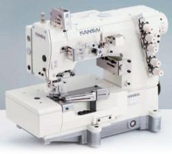 Kansai Special NW / WX / LX serijos plokščios platformos pramoninė plokščiasiūlė siuvimo mašina su viršutiniu ir apatiniu padengimu