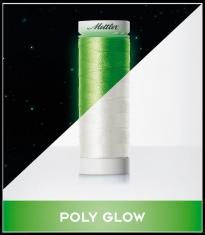 Tamsoje šviečiantys siuvinėjimo siūlai Mettler Poly Glow