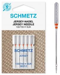 Adatos megztam trikotažui buitinei siuvimo mašinai Schmetz Jersey (5 vnt. Nm.80)