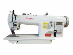 RUBINA RB-0617-D4 pramoninė tiesiasiūlė mašina sunkiems audiniams su trigubu (unisoniniu) transp.  su automatika.
