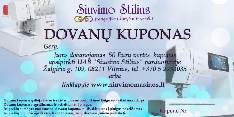 Siuvimo Stilius Dovanu Kuponas_2020