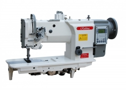 RUBINA RB-20618-1DZA pramoninė tiesiasiūlė mašina sunkiems audiniams su trigubu transportavimu ir automatika