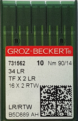 DBx1 LR (34LR) (odai) NM90 adatos pram. siuvimo mašinai GROZ-BECKERT (10 vnt.)