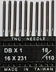 DBx1 NM110 (universalios) adatos pramoninei siuvimo mašinai TRIUMPH (10 vnt.)