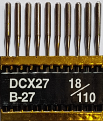 DCx27 PVD NM110 (dengtos titanu) adatos pramoniniam overlokui TRIUMPH (10 vnt.)