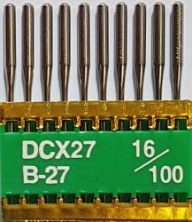 DCx27 PVD NM100 (dengtos titanu) adatos pramoniniam overlokui TRIUMPH (10 vnt.)