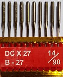 DCx27 PVD NM90 (dengtos titanu) adatos pramoniniam overlokui TRIUMPH (10 vnt.)
