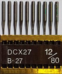 DCx27 PVD NM80 (dengtos titanu) adatos pramoniniam overlokui TRIUMPH (10 vnt.)
