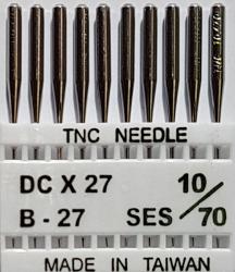 DCx27 SES NM70 (trikotažui) adatos pramoniniam overlokui TRIUMPH (10 vnt.)