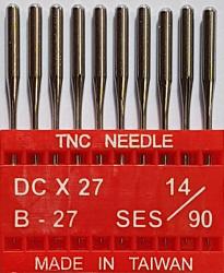 DCx27 SES NM90 (trikotažui) adatos pramoniniam overlokui TRIUMPH (10 vnt.)