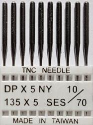 DPx5 SES NM70 (trikotažui) adatos pramoninei siuvimo mašinai TRIUMPH (10 vnt.)