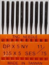 DPx5 SES NM75 (trikotažui) adatos pramoninei siuvimo mašinai TRIUMPH (10 vnt.)